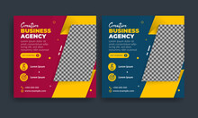 Flyer Or Social Media Post Template Themed Creative Business Agency