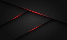 Abstract Red Light Shadow Triangle On Dark Metallic Design Modern Luxury Futuristic Background Vector