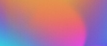 Abstract Pastel Holographic Blurred Grainy Gradient Banner Background Texture. Colorful Digital Grain Soft Noise Effect Pattern. Lo-fi Multicolor Vintage Retro Design.