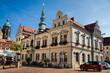 canvas print picture - pirna, deutschland - altes rathaus und turm von st. marien
