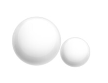 Matte White Sphere Geometry Figure For Teaching In School Vector Illustration On White Background