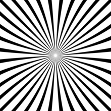 Pattern With Optical Illusion. Black And White Design. Abstract Striped Background. Abstract 3D Geometrical Background. Vector Illustration Kaleidoscope.