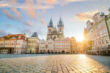 Old Town Square In Prague Czech Republic Photo