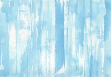 Blue Watercolor Background. Hand Painted Brush Strokes. Creative Art Backdrop With Place For Text.