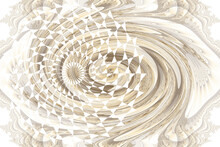 Fractal Background In Pastel Colors, Can Be Used As An Alpha Channel For Video And Design Projects. Digital Collage.Abstract Computer Fractal Design With Creative Forms