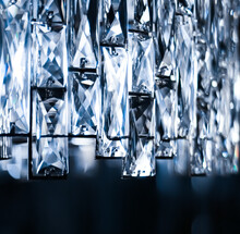 Crystal Glass Chandelier As Home Decor, Interior Design And Luxury Furniture Detail, Holiday Invitation Card Background.