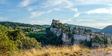Vaison-la-Romaine, The Haute Ville, The Medieval Town, Perched On The Rocky Outcrop Cliff, Provence, France