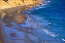 Leisure On Calm  And Beautiful Porto De Mos Beach, Lagos, Algarve, Portugal, Europe