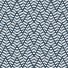 Seamless Pattern Of Navy Blue And White Zigzag Pattern With Stripes Decoration On Navy Blue Background