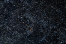 Dark Rusted And Oxidized Metal Surface, Concept Photo To Show Planetary Ground Level.