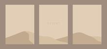 Desert Vector. Desert Flyer Template. Desert Wall Art Design. Editable Vector.