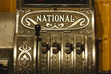 Cash Register, Coin, Cash Box Vintage Cash Mashine