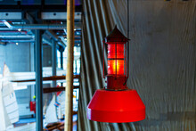 Lanterns For Lighting On The Ship Close Up
