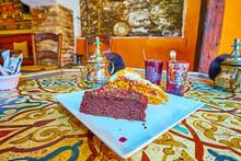 The Turkish Cakes And Tea In Arabic Teahouse, Granada, Spain