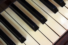 Vintage Piano Keys On Keyboard