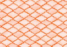 Quatrefoil Seamless Pattern. Crimson Red Rhombus Majolica Background. Barbed Watercolour Trellis. Arabic Damask Print. Geometric Morrocan Tile. Lattice Marrakesh Watercolor Design.