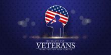 Veterans Day Poster. Veteran's Day Illustration With American Flag, 11th November, Vector Illustration