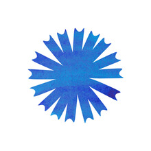 Watercolor Illustration In The Shape Of A Flower. Blue Cornflower. Suitable For Patterns, Postcards, Envelopes, Invitations And Other Typography. As Well As Various Banners On Sites, Catalogs, Brochur