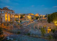 Rome - Forum Romanum At Dusk
