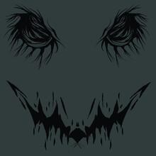 Black White Monster Eye