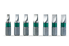 Flat Head Screwdriver Tips Collection Isolated