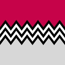 Seamless Geometrical Design Illustration With Black And White Zigzag Pattern On Red And Grey Background