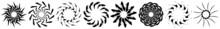 Abstract Circular Drawing. Amorphous, Nonfigurative Artistic Element, Shape. Swirl, Twirl, Whorl, Vortex Motif And Mandala