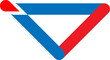Logo triangle blue red