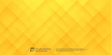 Abstract Yellow-orange Gradient Geometric Square With Lighting And Shadow Background. Modern Futuristic Wide Banner Design. Can Use For Ad, Poster, Template, Business Presentation. Vector EPS10