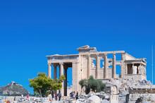 Erechtheion. Caryatids, Acropolis Of Athens, Greece