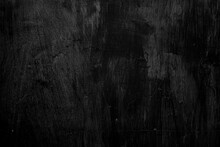 Empty Black Wall Interior For Design, Old Loft Style Raw Concrete Wall. Dirty Dark Raw Cement Wall Texture And Background