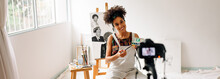 Art Painter Live Streaming From Her Studio