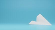 Paper Plane Illustration 3d Rendering