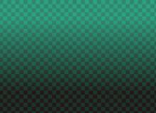 イラスト素材:市松模様(緑×黒)グラデーション コピースペースのある壁紙