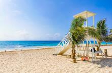Tropical Mexican Beach 88 Punta Esmeralda Playa Del Carmen Mexico.