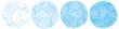 水色水彩画絵具円形丸型筆跡テクスチャベクター滲み暈しイラスト素材