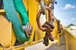 canvas print picture - Der Schienen Bau bring neues Strecken für die Eisenbahn