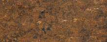 Panoramic Grunge Rusty Metal Texture, Rust And Oxidized Metal Background. Old Iron Web Banner.