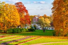 Catherine Park In Autumn, Tsarskoe Selo (Pushkin), Saint Petersburg, Russia
