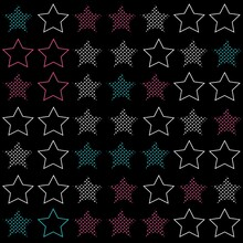 Stars With Texture And Colors Pattern Fashion Design And Background
