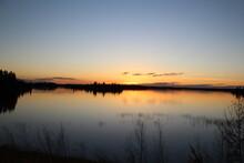 Fall Sunset, Elk Island National Park, Alberta