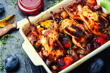 Whole Quail Stewed In Plum