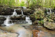 PHO HIN DAT Waterfall Is In Namtok Sam Lan National Park ,Saraburi Thailand