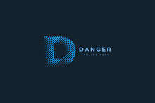 Letter D Creative And Simple Line Art Technological Modern Business Logo