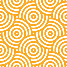 Seamless Pattern With Yellow Circles