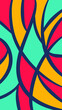 geometric background with colorful curves facets