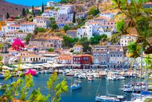 View Of The Amazing Hydra Island, Greece.