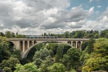 Adolphe Bridge In Luxembourg City Center
