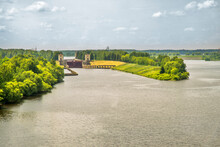 Gateway No. 1 Of Moscow Canal In Dubna. Russia