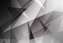 Light Gray Vector Background With Polygonal Style.